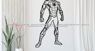 Free spider man wall cut file vector