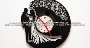 Free vinyl cut Wedding Watch silhouette DXF