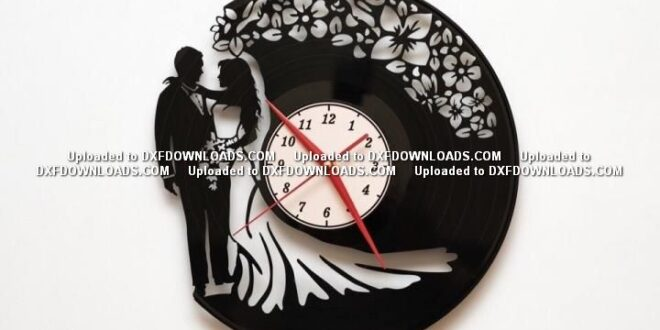 Free vinyl cut Wedding Watch silhouette DXF