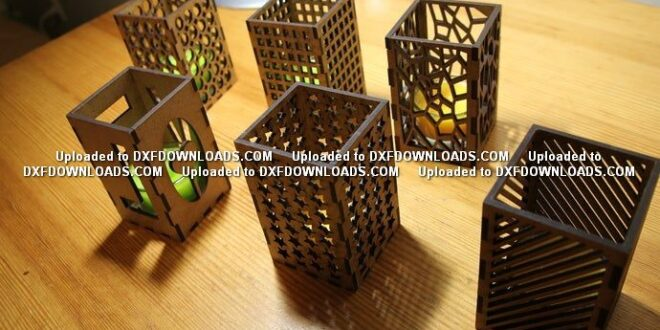 Free cnc candlestick or pencil holder