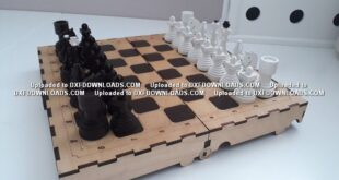 Free laser cut chessboard chess game
