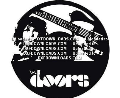 Free vector cdr clock the doors band