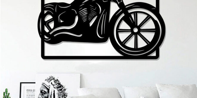 Motorcycle frame cut vector silhouette