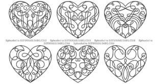 Valentine hearts stencil set SVG Free