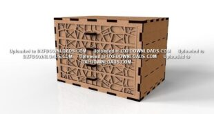 Boxes with drawer for cnc wood cutting Free