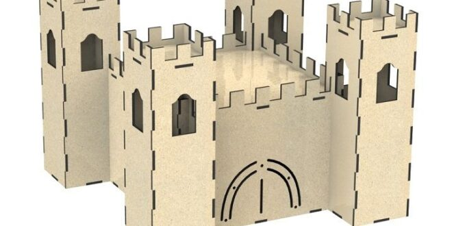 Castle for laser cut wood