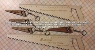 Ruler saw free design download to laser machines