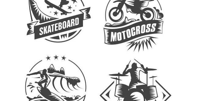 SVG Skateboard Surf Motocross Rock and Roll