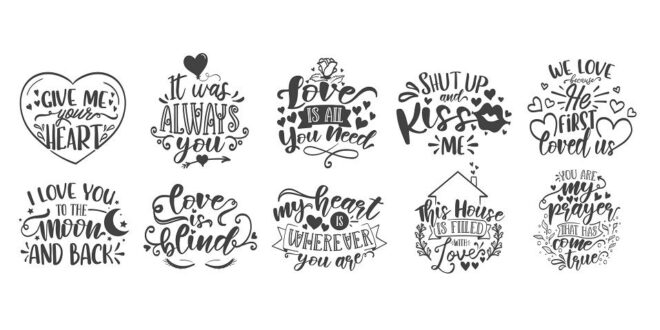 Bundle SVG Vectors Romantics