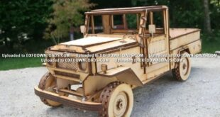 Toyota Land Cruiser Free Car Puzzle 3d Mdf Toy CDR File