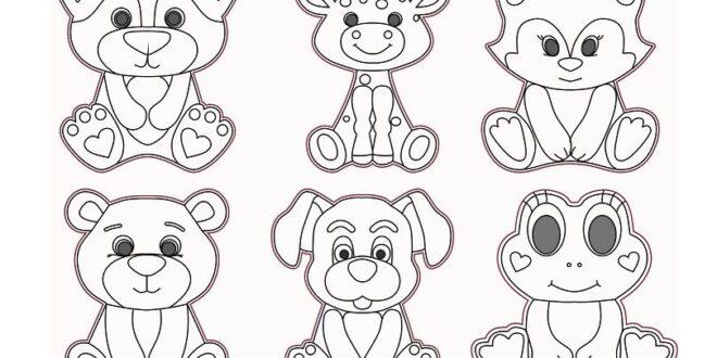 2D vectors animals laser engraving dog cat giraffe frog bear