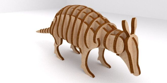 Armadillo animal 3d cnc laser cut