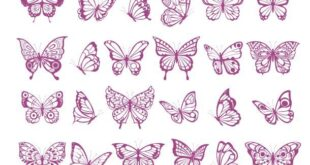 Butterflies bundle svg and dxf stencil