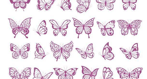 Butterflies bundle svg and dxf stencil
