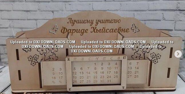 Free desk organizer 4mm mdf calendar