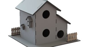 Miniature house for laser cutting 3mm+6mm
