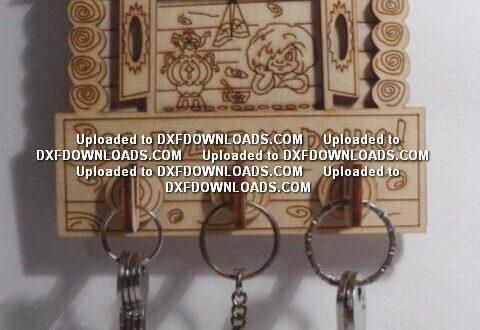 Free laser cut file decor house keychains