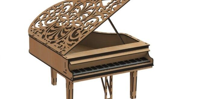 Piano box design to cut wood laser cnc