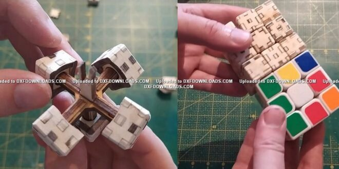 Wooden magic cube laser cut cdr dxf free