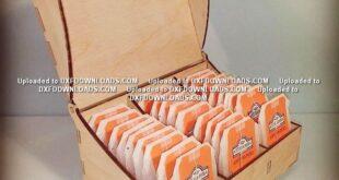 Tea box free design to laser cut