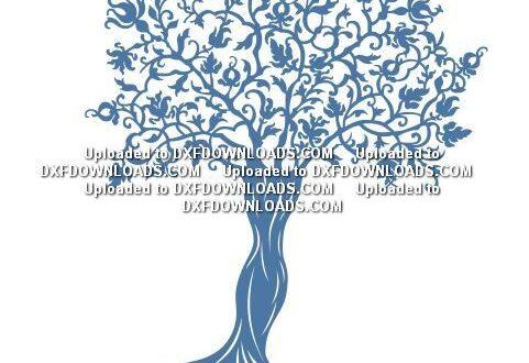Free tree silhouette stencil SVG File