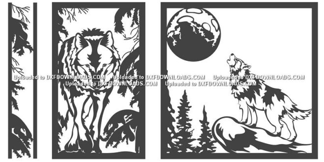Free Panel Wolf SVG to cut