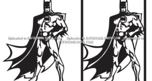 Free Batman Silhouette SVG DXF Cut File