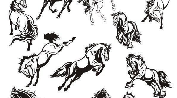 SVG Files Horse Stickers Vector Art Collection
