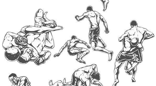 SVG Vectors MMA Sticker