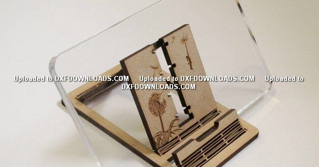 Phone Stand free download plan to laser cut