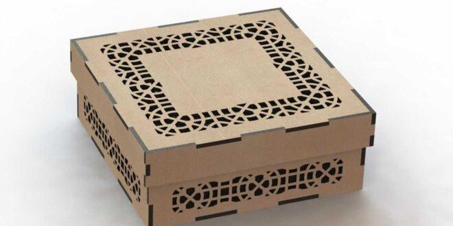 Square mdf box laser cut