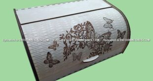 bread box foldable free cdr to laser cut