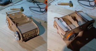 Car soda can box for Laser cnc cut wood
