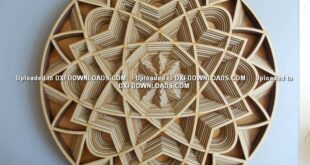 Free Multi Layer Carving mandala CDR DXF