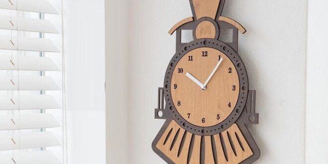 children's train watch clock in layers layered