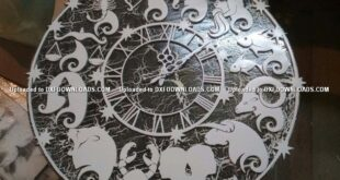 Free Clock Zodiac Vector Cnc