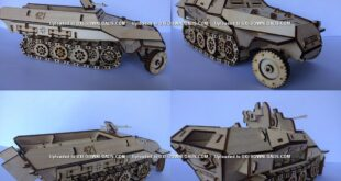 Armored personnel carrier Free Laser wood file cut