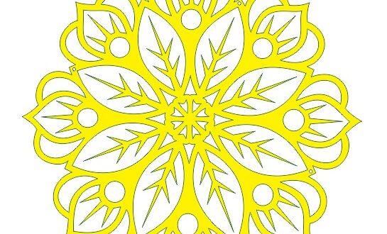 Flower Free DXF Vector Mandala