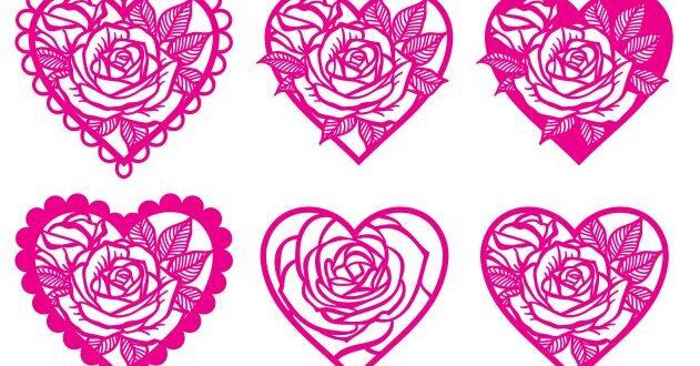 Hearts free svg cricut silhouette