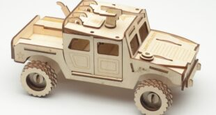 Humvee Armed Forces Car for Laser Cut with step by step assembly