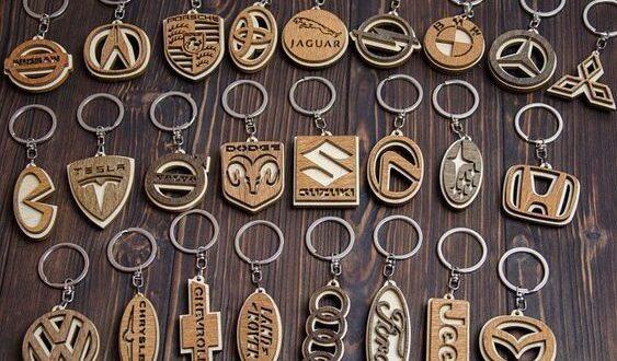 Free pack keychain cars logo