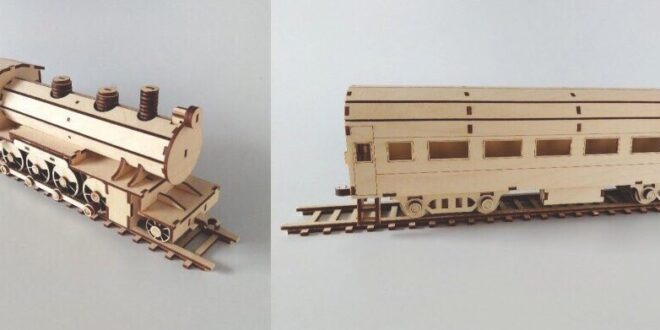Laser Cut Locomotive and wagon 3mm and 6mm