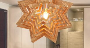 Free vector star chandelier lamp for Cut CNC