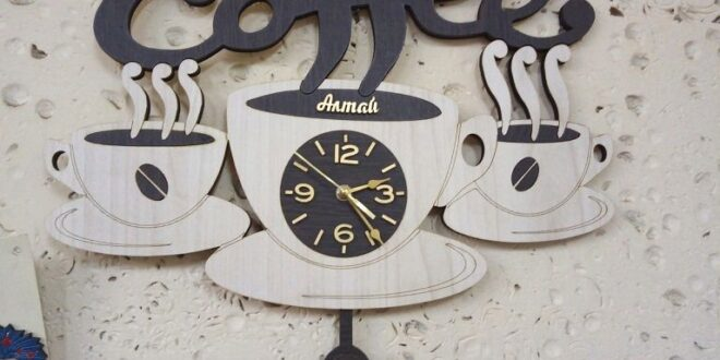 Coffee wall clock free file to cnc cut