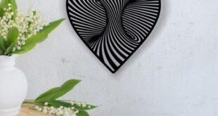 Free Vector Wall Heart 3D Twirl
