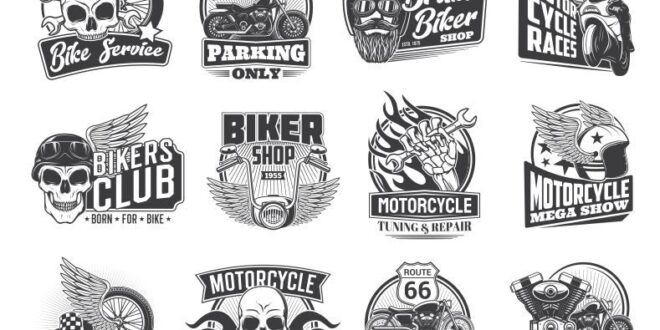 Motorcycle Bike Shop Service Repair Pack SVG Logo Free