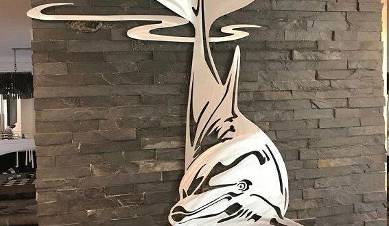 Dolphin vector cut wall decor cdr dxf