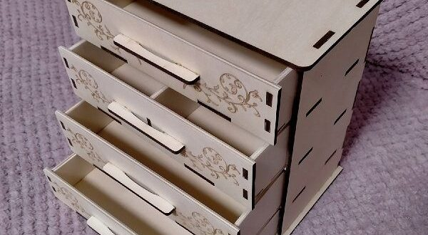 Chest of drawers free cdr dxf layout