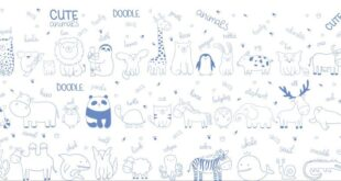 Free Lovely Cute animals SVG doodle dump