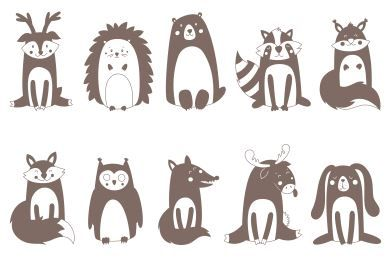Free animals funny SVG
